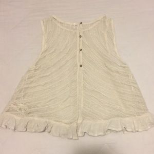 FREE PEOPLE LACEY BABYDOLL CROP TANK SIZE MED